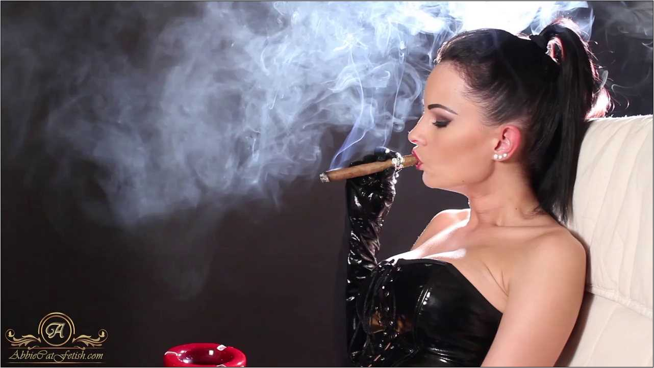 Goddess Abbie Cat In Scene: Smoking Big Cigar in Gloves - ABBIECATFETISH - HD/720p/MP4
