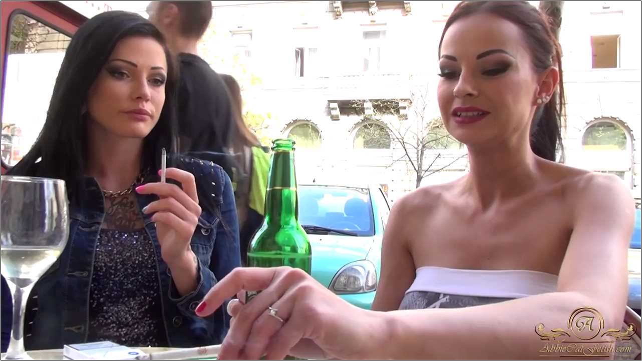 Goddess Abbie Cat , Loren In Scene: Abbie and Loren Smoking on Terrace - ABBIECATFETISH - HD/720p/MP4