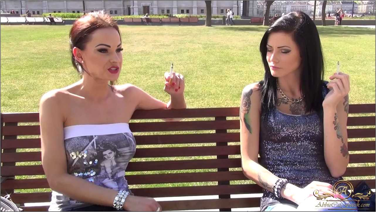 Goddess Abbie Cat , Loren In Scene: Abbie and Loren Smoking Outside - ABBIECATFETISH - HD/720p/MP4