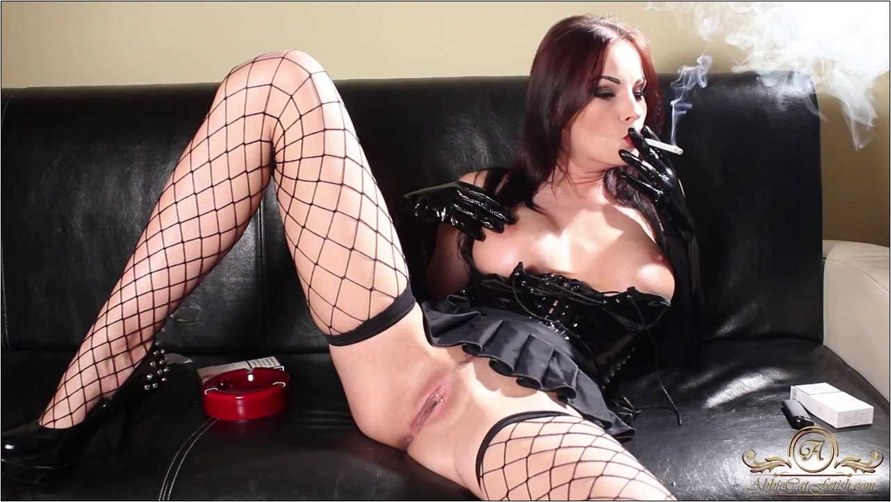 Goddess Abbie Cat In Scene: Smokey Masturbation in Gloves - ABBIECATFETISH - HD/720p/MP4