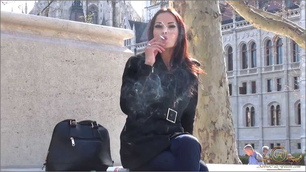 Goddess Abbie Cat In Scene: Smoking Outside - ABBIECATFETISH - HD/720p/MP4