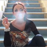 Goddess Abbie Cat In Scene: Smoking on the Staircase – ABBIECATFETISH – HD/720p/MP4