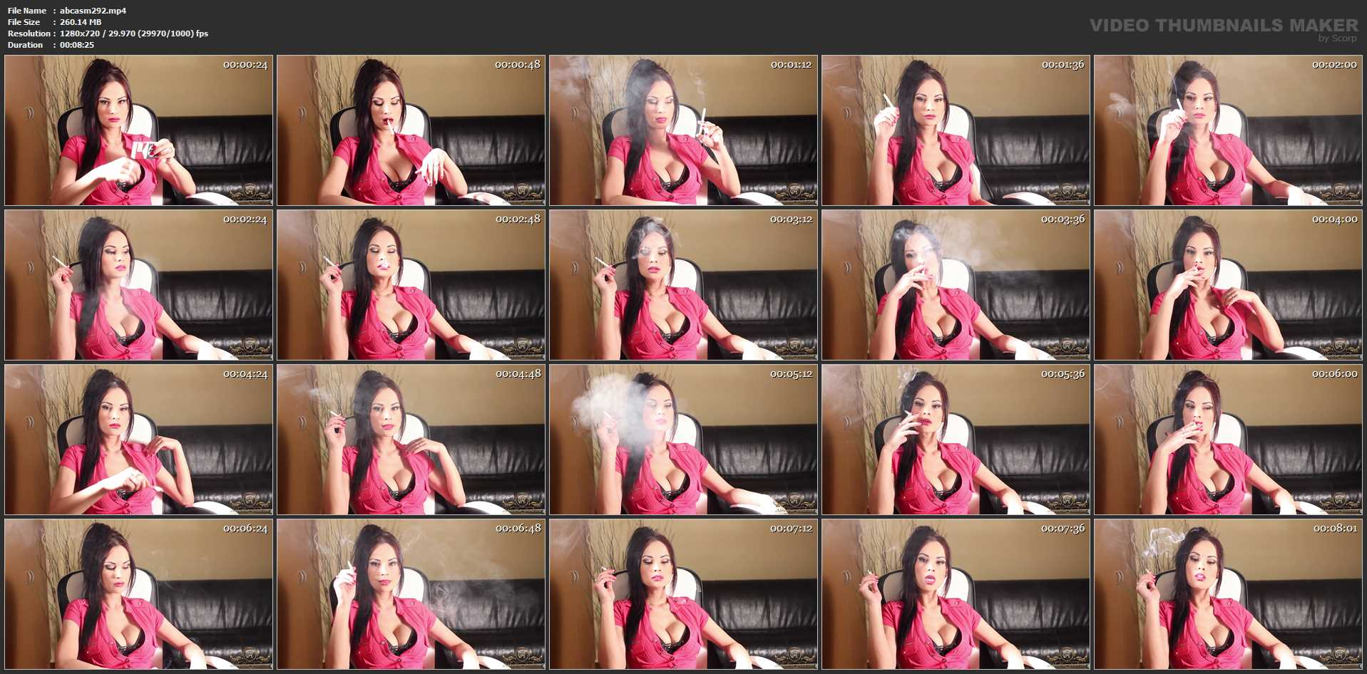 Goddess Abbie Cat In Scene: Smoking RED - ABBIECATFETISH - HD/720p/MP4