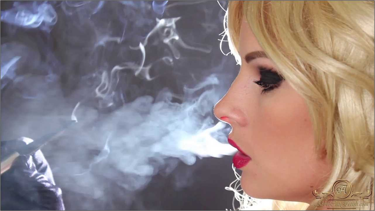 Goddess Abbie Cat In Scene: Smoking in Gloves Face Close-Up - ABBIECATFETISH - HD/720p/MP4