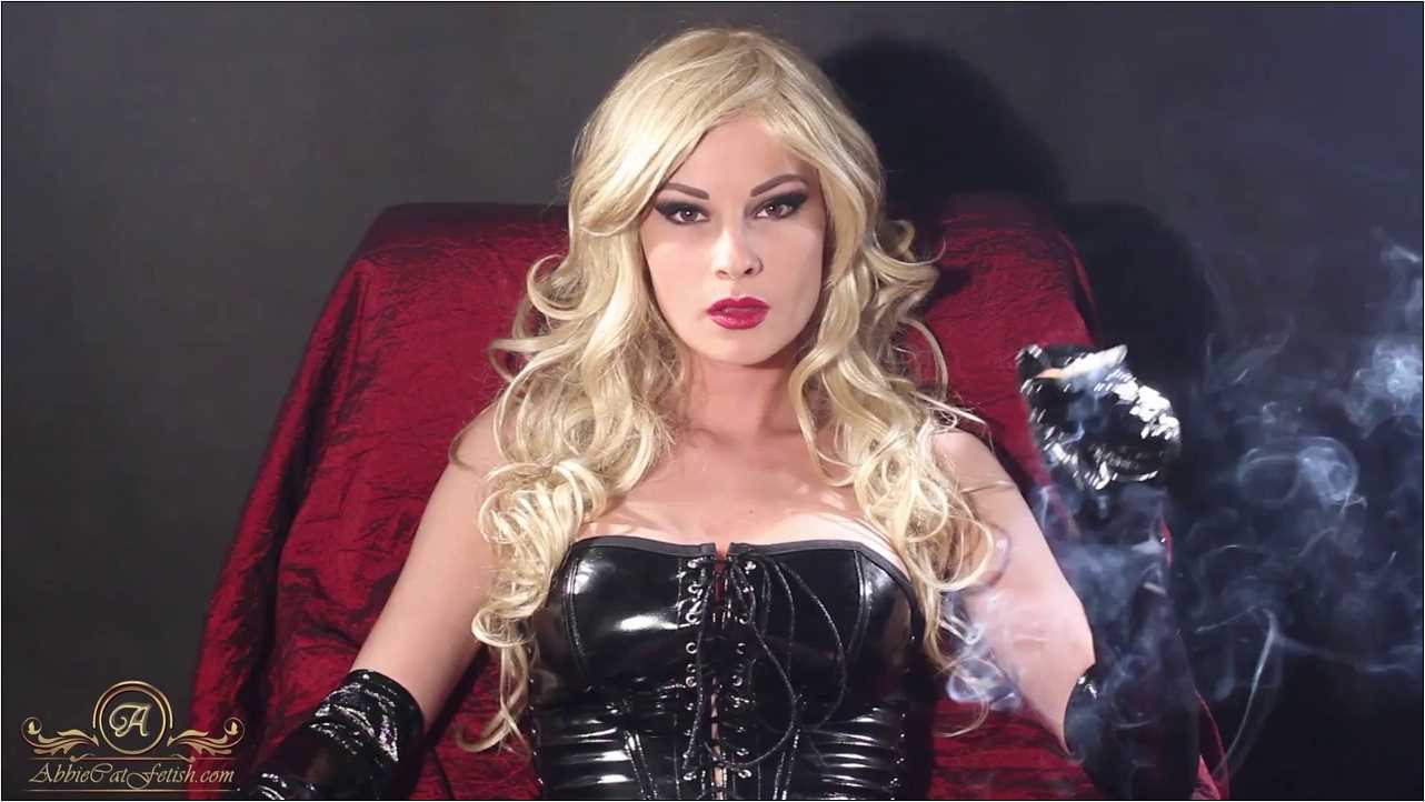 Goddess Abbie Cat In Scene: Blonde Abbie Smoking in PVC - ABBIECATFETISH - HD/720p/MP4