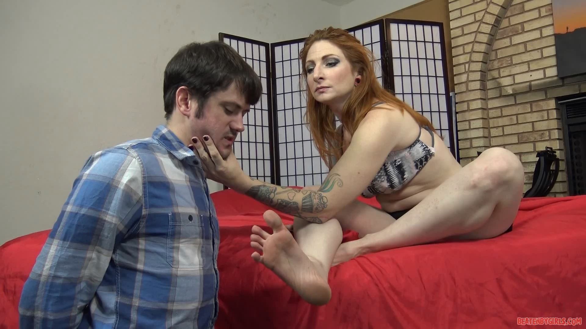 Olivia gives this loser a lesson - BEATENBYGIRLS - FULL HD/1080p/MP4