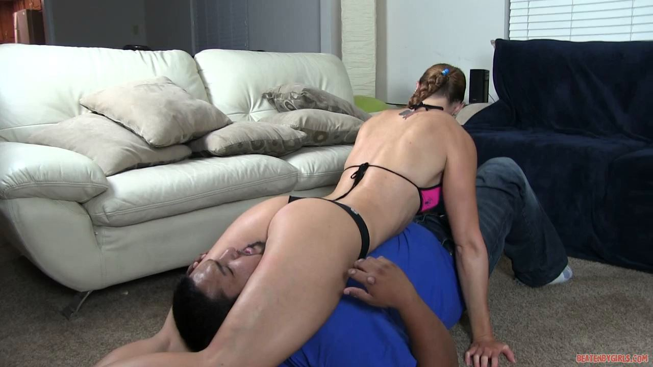 Charlie tests her new prospective boyfriend by scissoring - BEATENBYGIRLS - HD/720p/MP4