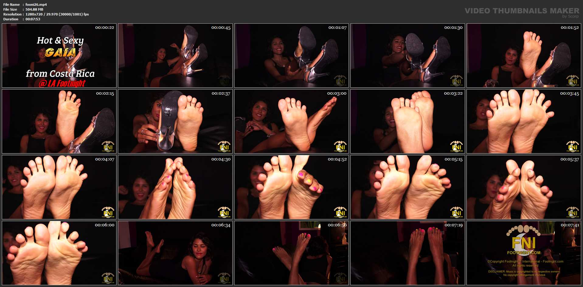 Costa Rican In Scene: Tanned delicious feet - FOOTNIGHT - HD/720p/MP4