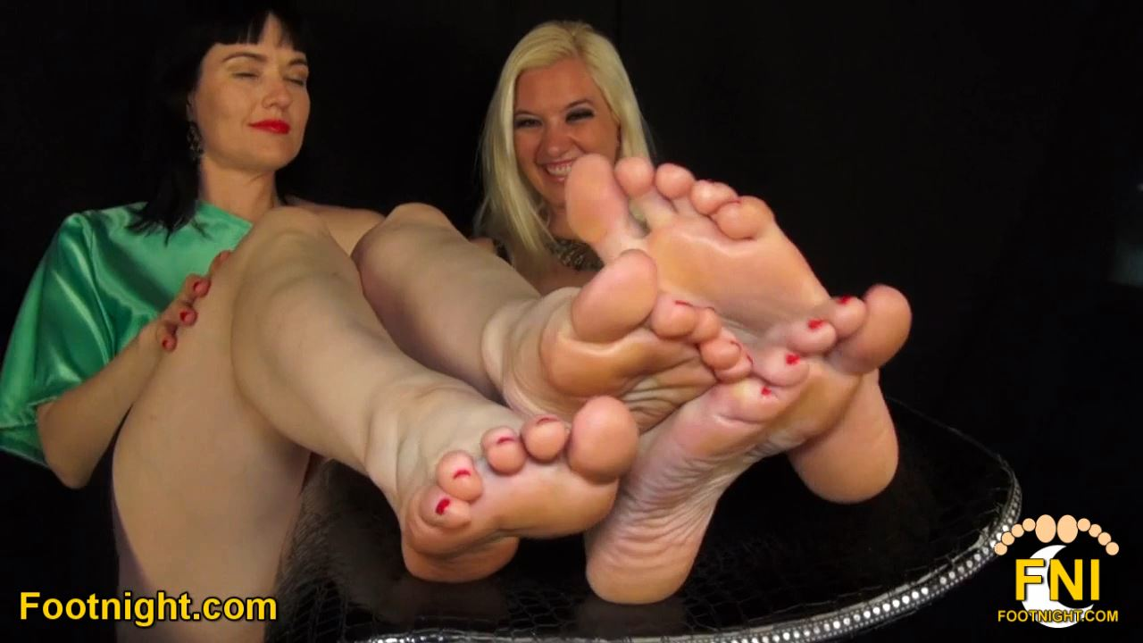 Foot Fun With Snow Mercy & Noir Halo - FOOTNIGHT - HD/720p/MP4