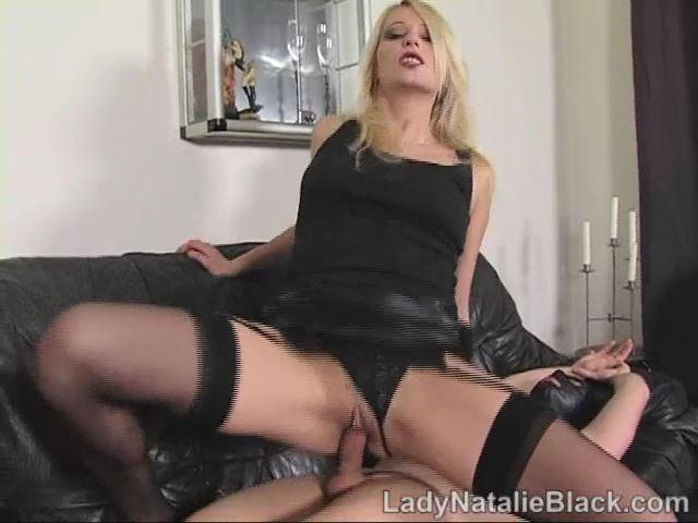 Mistress Natalie Black In Scene: Foot Wank & Spunk - LADYNATALIEBLACK - SD/480p/MP4