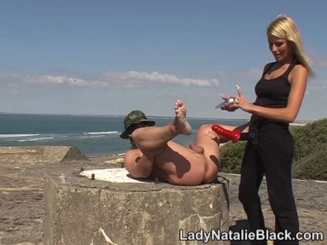 Mistress Natalie Black Strap In Scene: On Beach - LADYNATALIEBLACK - SD/480p/MP4
