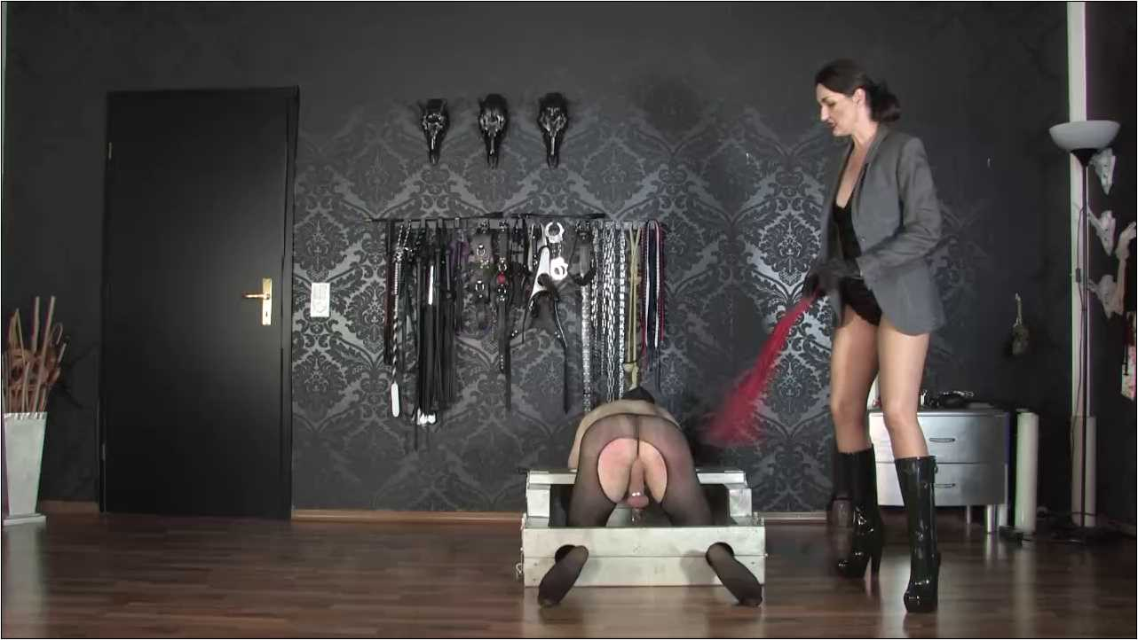 Lady Victoria Valente In Scene: Whipping in Designer Rubber Boots - CLIPS4SALE / LADYVICTORIAVALENTE / REAL GERMAN MISTRESS - HD/720p/MP4