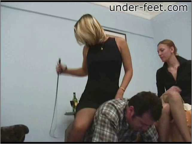 Nataly & Polina Foot femdom session from 22 of March 2006 - UNDER-FEET - SD/480p/MP4