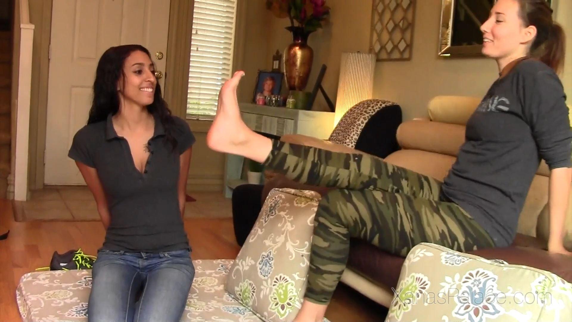 Hazel, Tanya In Scene: Gym Trainers Stinky Feet Punishment - XANASPALACE - FULL HD/1080p/MP4