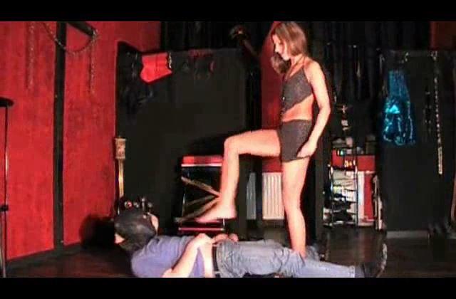 Mistress Janina In Scene: Break him Part 3 - BALLBUSTING JANINA CRUEL FEMDOM - SD/420p/MP4