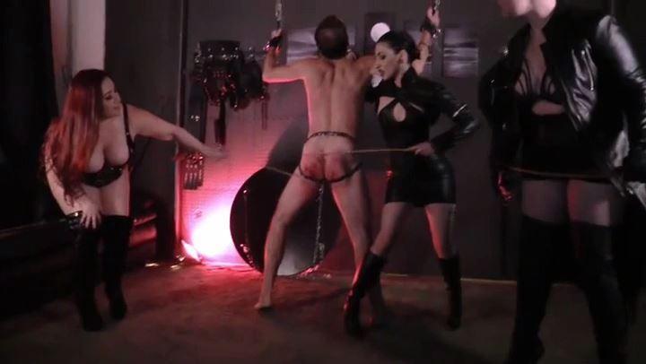 Cybill Troy, Sheri Darling, Quinn Helix In Scene: Triple Cane Attack - CYBILL TROY`S DTLA DOMINAS - SD/406p/MP4