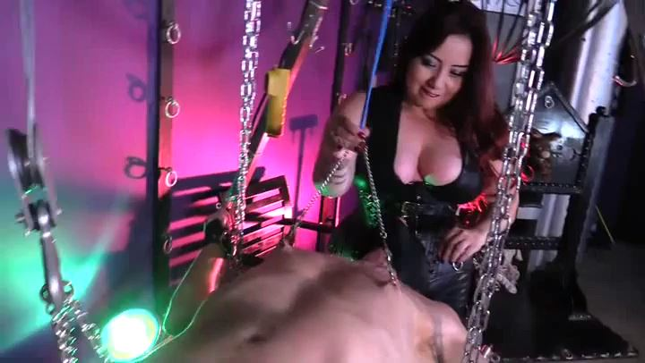 Mistress Sheri Darling In Scene: LEATHER BREAST SMOTHERING - CYBILL TROY`S DTLA DOMINAS - SD/406p/MP4