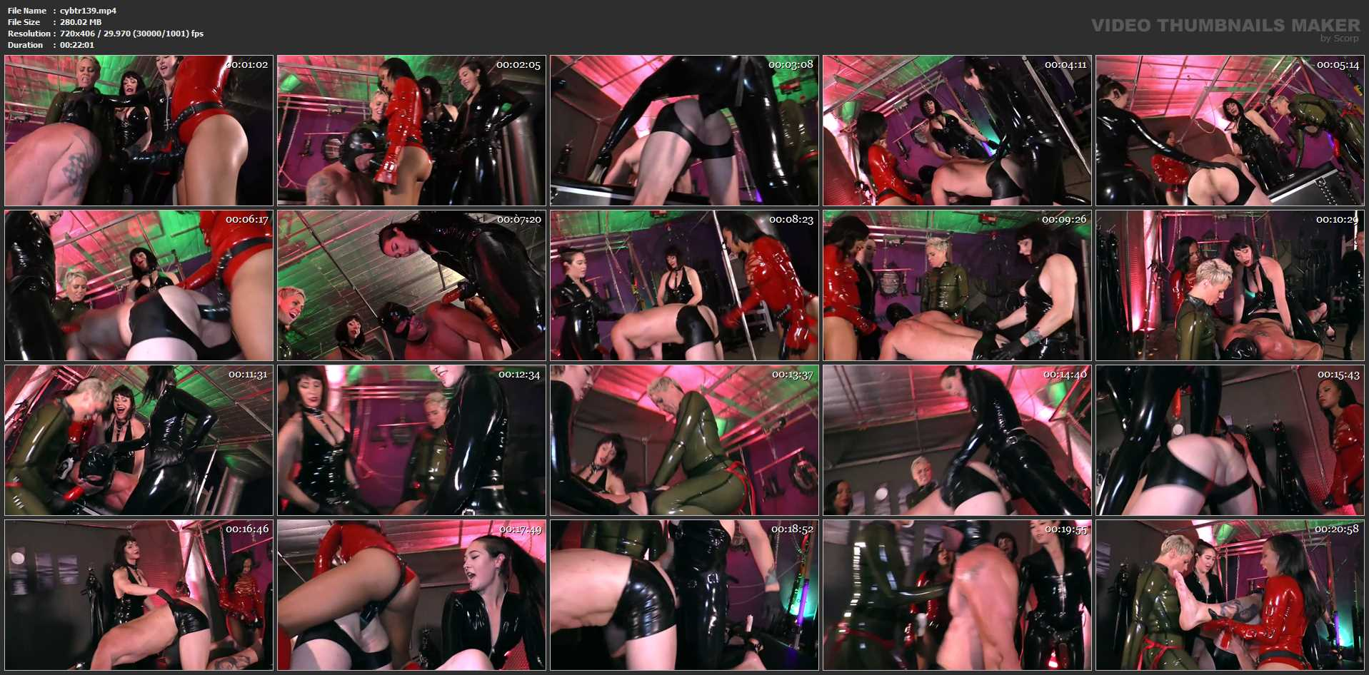 Domina Helena In Scene: HEAVY RUBBER ANAL ASSAULT - CYBILL TROY`S DTLA DOMINAS - SD/406p/MP4