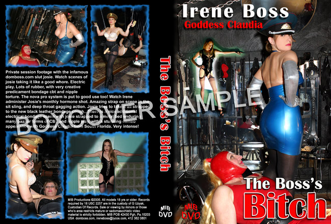 Domina Irene Boss In Scene: The Boss's Bitch - DOMBOSS / MIB PRODUCTIONS - SD/480p/MP4