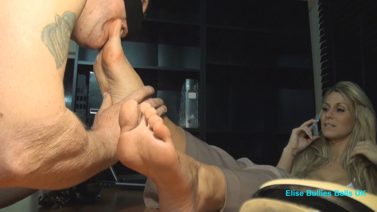 Mistress Elise In Clip: Are My Feet Sweaty - ELISE BULLIES BALLS UK - HD/720p/MP4