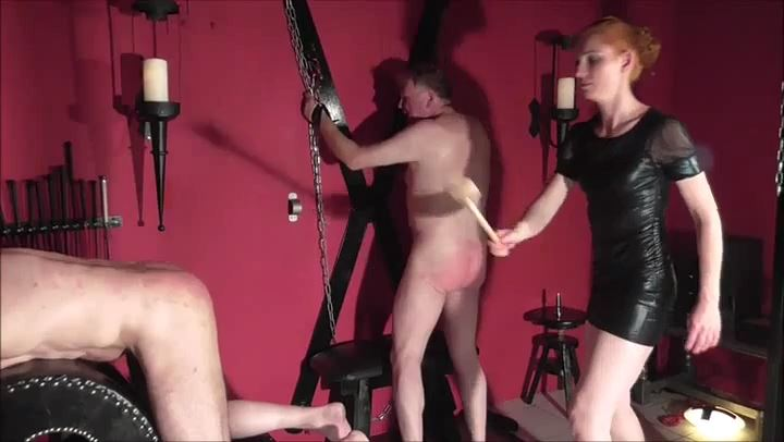LADY RONJA In Scene: CRUEL CANING WITH THE COOKING PAD - DEUTSCHE DOMINAS / GERMANY FEMDOM - SD/406p/MP4