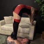 Olivia uses ladiesfloor as her footstool and tramples him – HEADUNDERHEELS – HD/720p/MP4