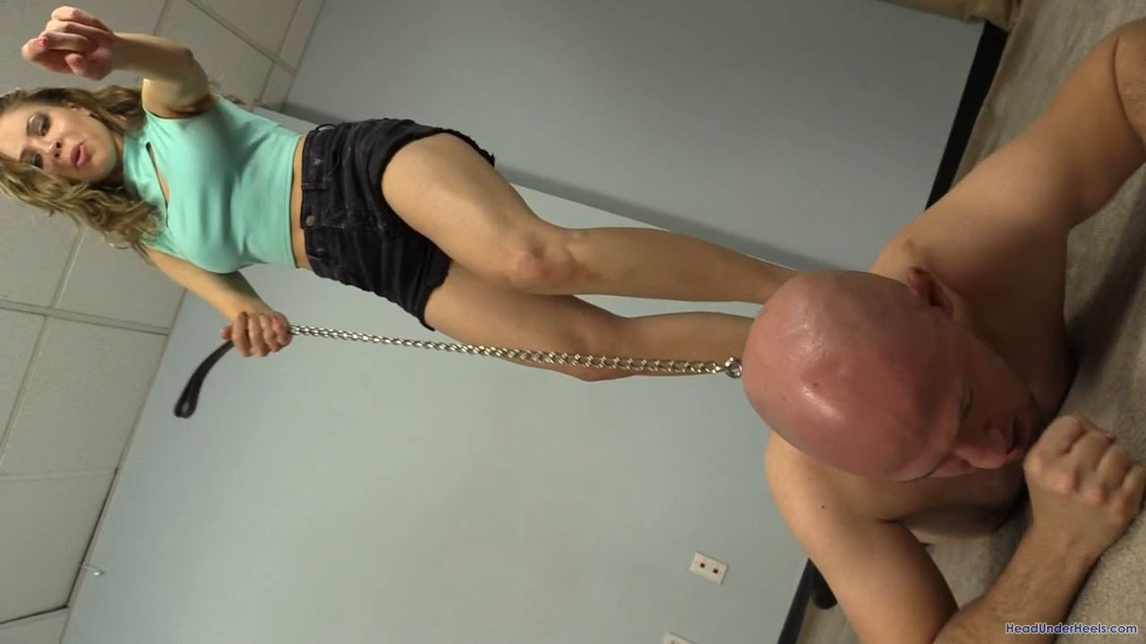 Erika Jordan is trampling dante with bare feet - HEADUNDERHEELS - HD/720p/MP4