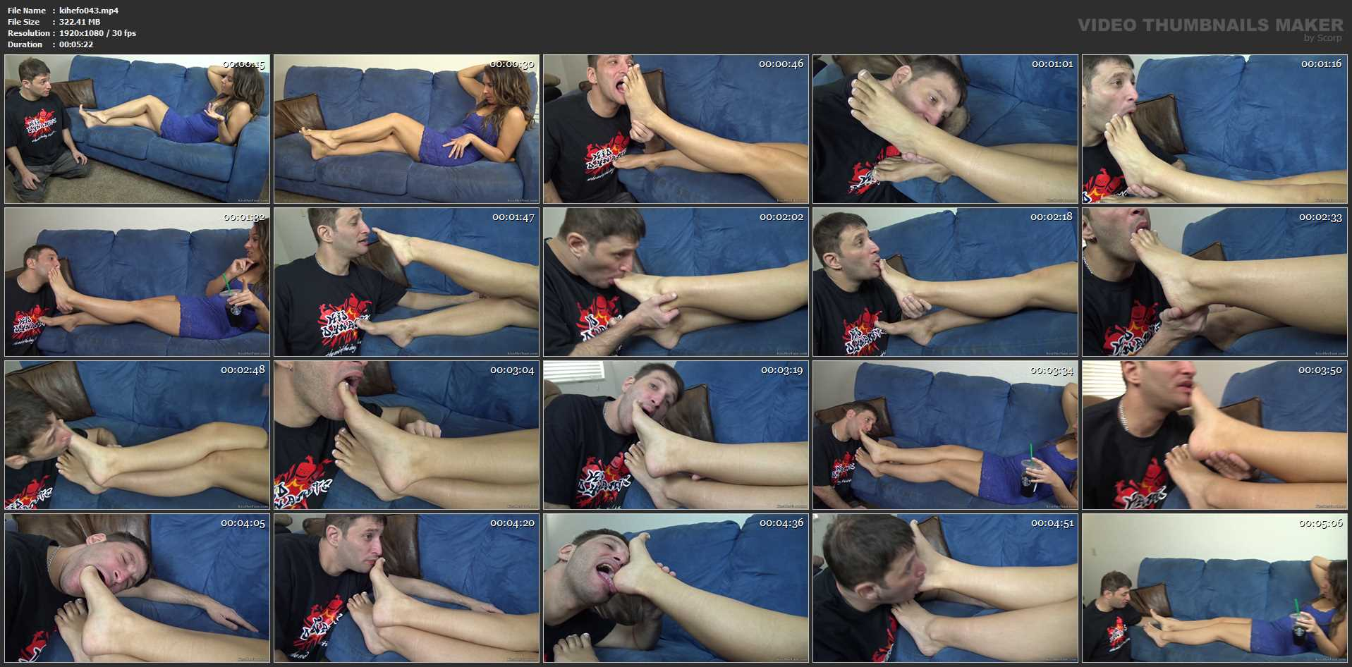 Licking her feet like a dog - KISSHERFOOT - FULL HD/1080p/MP4