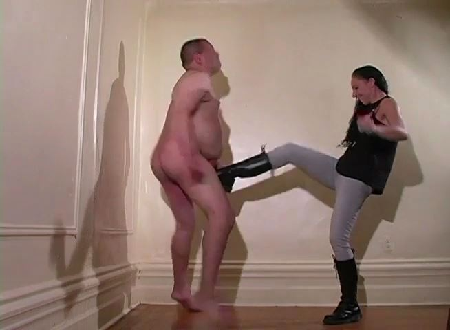 Combat Boots To Break His Balls - MISTRESS TRISH - SD/480p/MP4