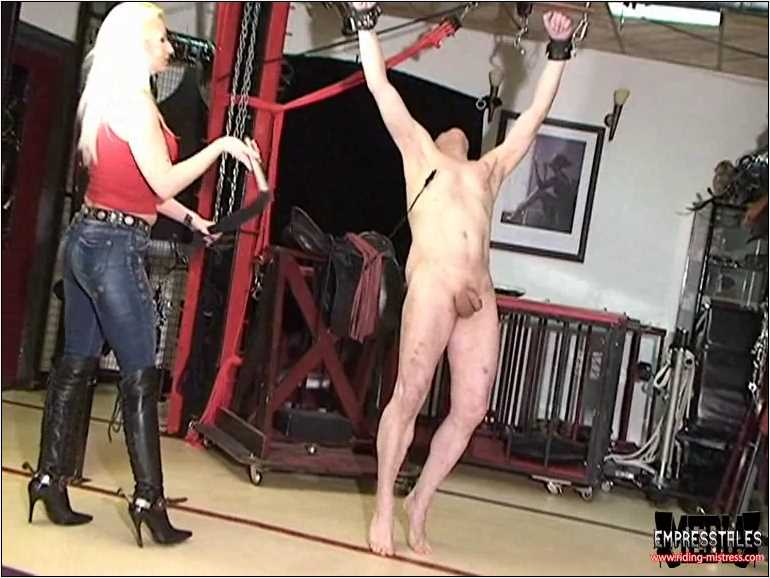 Mistress Kelly Kalashnik In Scene: DANCE UNDER WHIPS LASHES - RIDING-MISTRESS / DUTCH FEMDOM - SD/576p/MP4