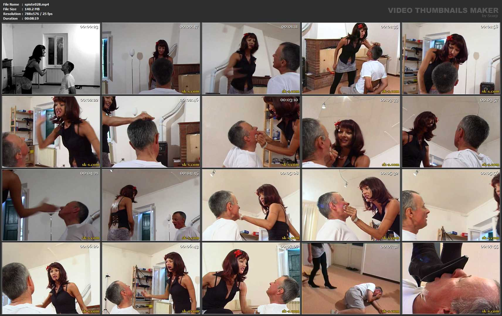 The Russian Model: Arrogant Face Slapping - SPIKEYSTEP VIDEO PRODUCTIONS - SD/576p/MP4