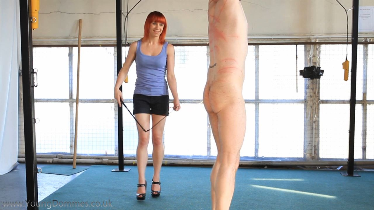 Lucy Whips The Dumb Slave - YOUNGDOMMES - HD/720p/MP4