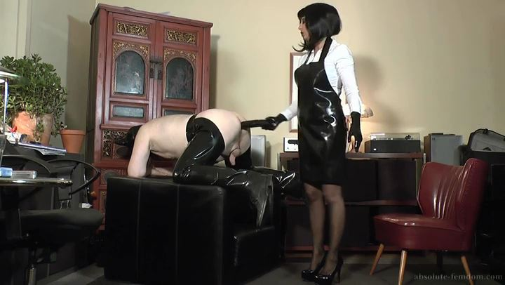 Prostate Milking For Pig Boss - ABSOLUTE FEMDOM - SD/406p/MP4