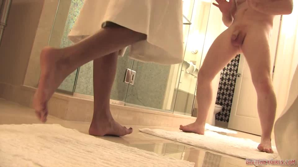 Stranger in the shower with Miss Tiara - BEATENBYGIRLS - SD/540p/MP4