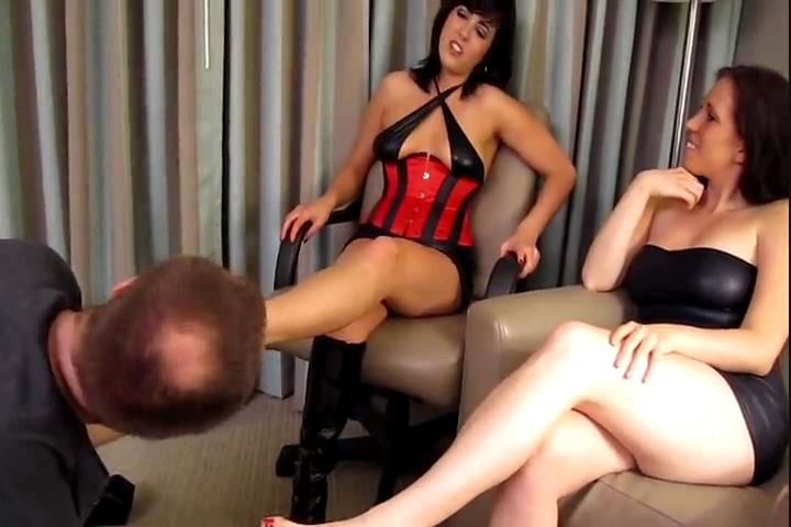 Mistress Dixie Comet, Mistress Samantha Grace In Scene: Dixie & Samantha`s Foot Puppy - CRUDELIS AMATOR BALLBUSTING FETISH - SD/480p/MP4