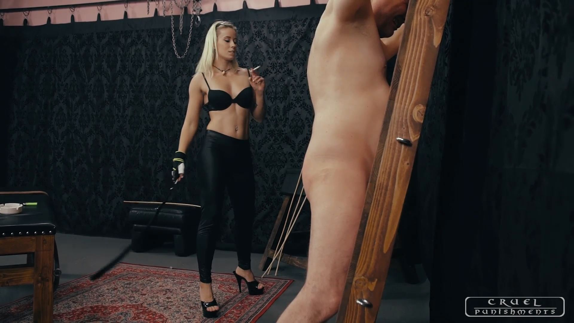 Mistress Anette In Scene: TURNS AROUND AND SUFFER - CRUEL PUNISHMENTS - SEVERE FEMDOM - FULL HD/1080p/MP4