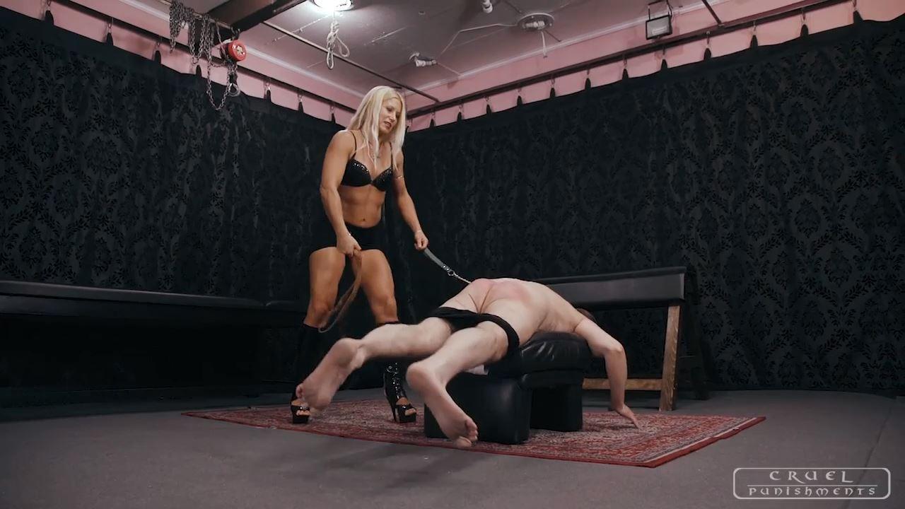 Mistress Zita In Scene: SPANKING WITH A LEATHER BELT - CRUEL PUNISHMENTS - SEVERE FEMDOM - HD/720p/MP4