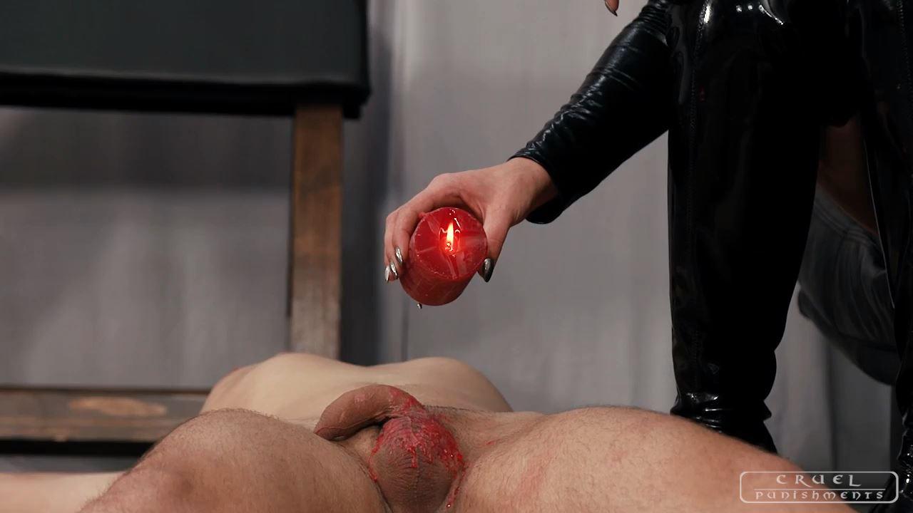 Mistress Anette In Scene: Hot wax and heels - CRUEL PUNISHMENTS - SEVERE FEMDOM - HD/720p/MP4