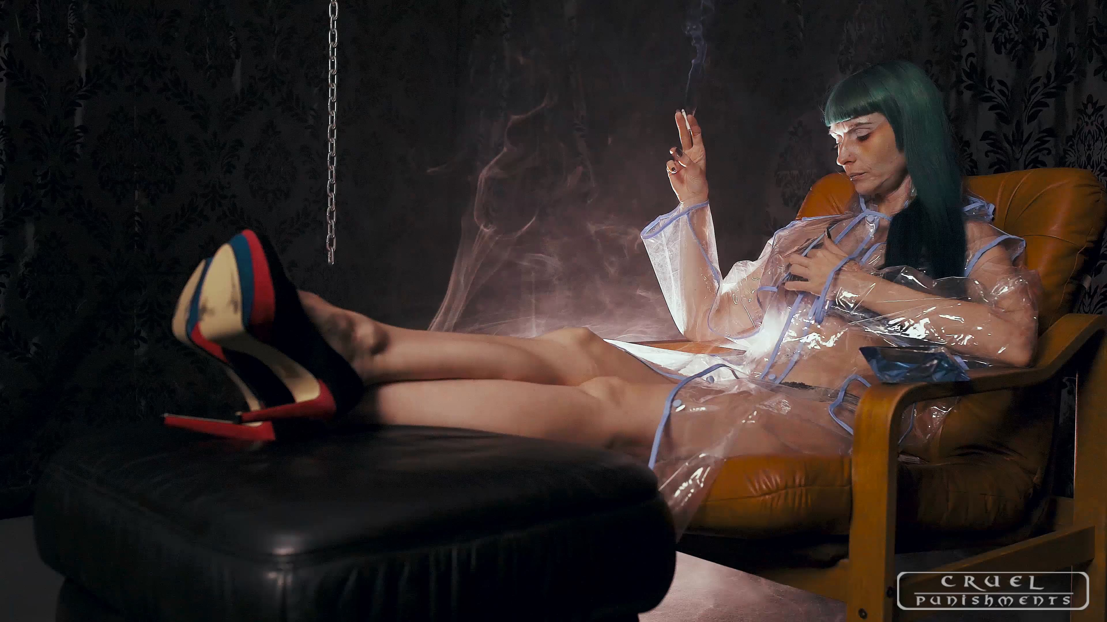 Mistress Suzy In Scene: Good cigarette - CRUEL PUNISHMENTS - SEVERE FEMDOM - FULL HD/2160p/MP4
