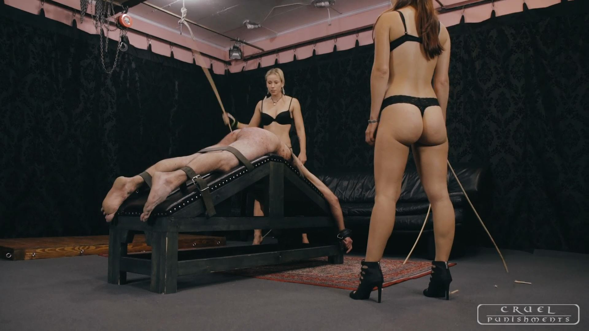 Mistress Anette, Mistress Nina In Scene: Used by two Mistresses Part 3 - CRUEL PUNISHMENTS - SEVERE FEMDOM - FULL HD/1080p/MP4