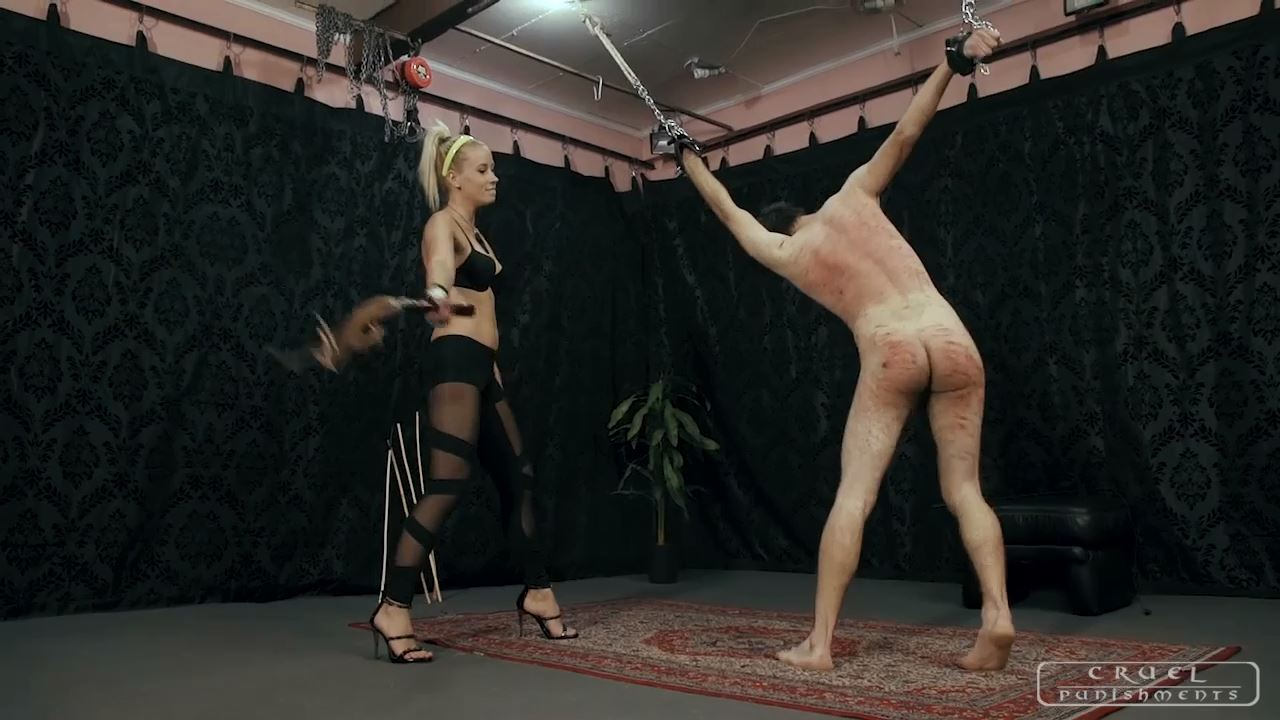 Mistress Anette In Scene: Screaming like a madman Part - CRUEL PUNISHMENTS - SEVERE FEMDOM - HD/720p/MP4