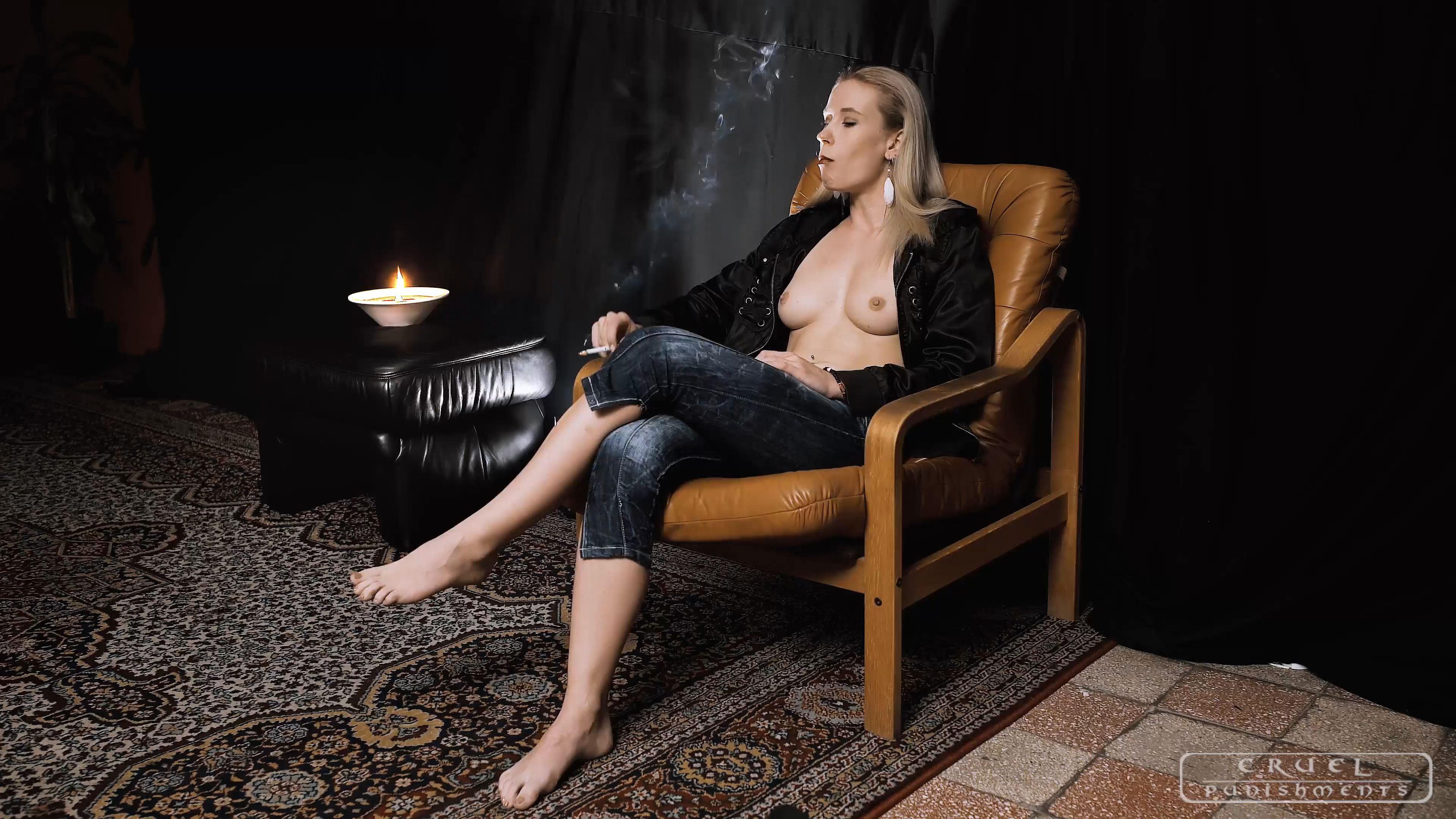 Mistress Anette In Scene: Half naked, barefeet - CRUEL PUNISHMENTS - SEVERE FEMDOM - FULL HD/2160p/MP4
