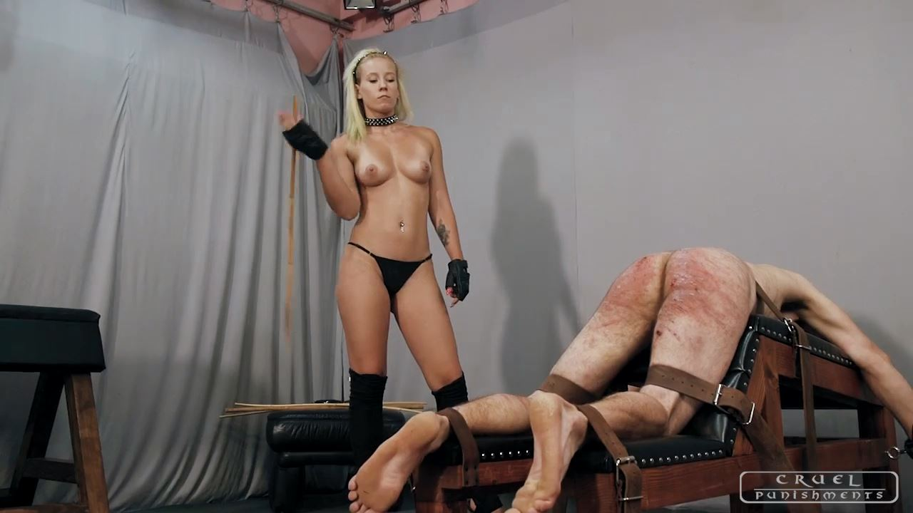 Mistress Anette In Scene: Anette's forceful strokes Part 1 - CRUEL PUNISHMENTS - SEVERE FEMDOM - HD/720p/MP4