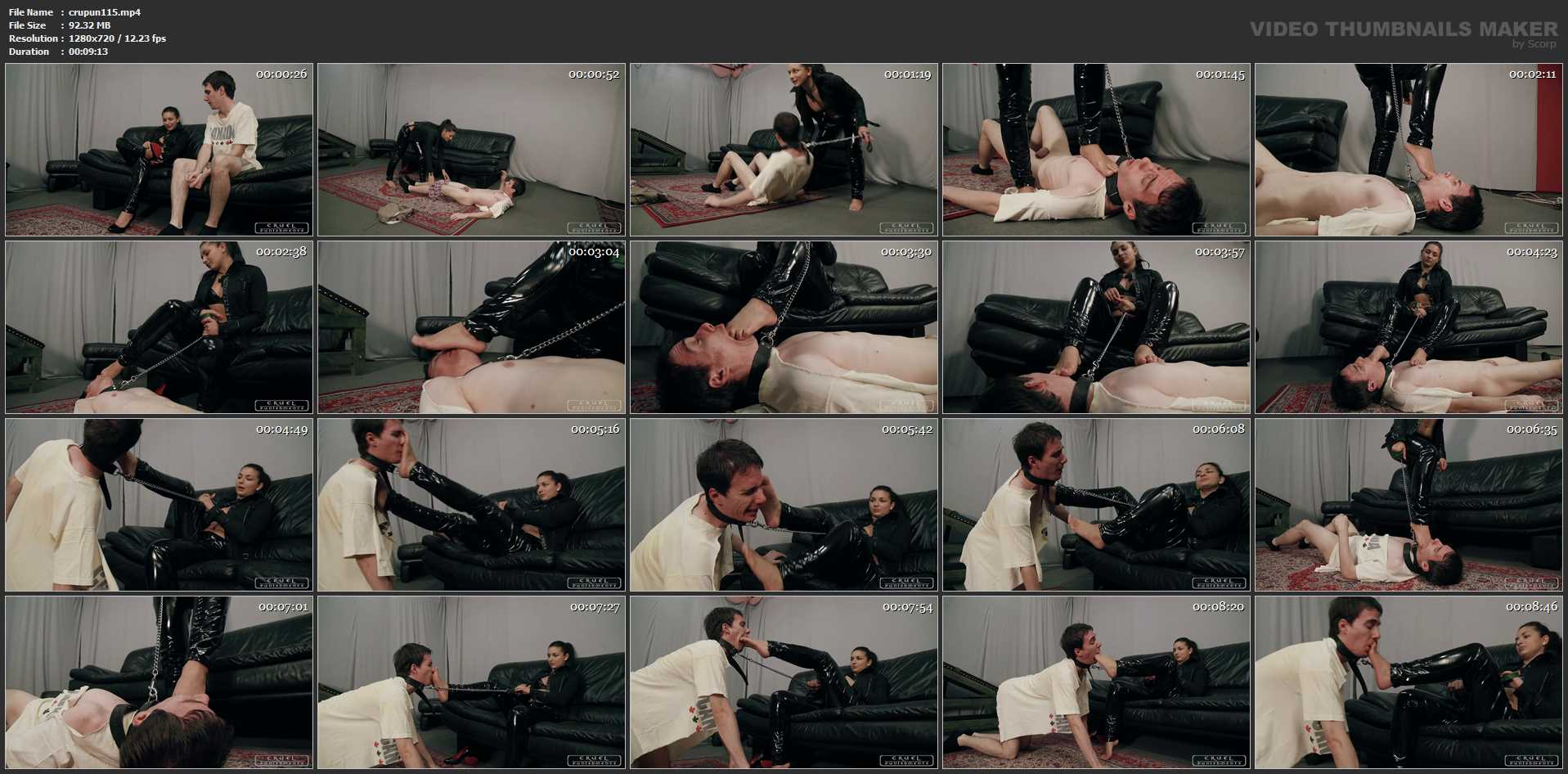 Mistress Darkness In Scene: Forced - CRUEL PUNISHMENTS - SEVERE FEMDOM - HD/720p/MP4