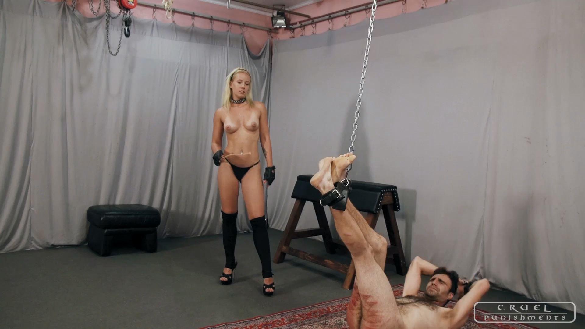 Mistress Anette In Scene: Anette's forceful strokes Part 3 - CRUEL PUNISHMENTS - SEVERE FEMDOM - FULL HD/1080p/MP4