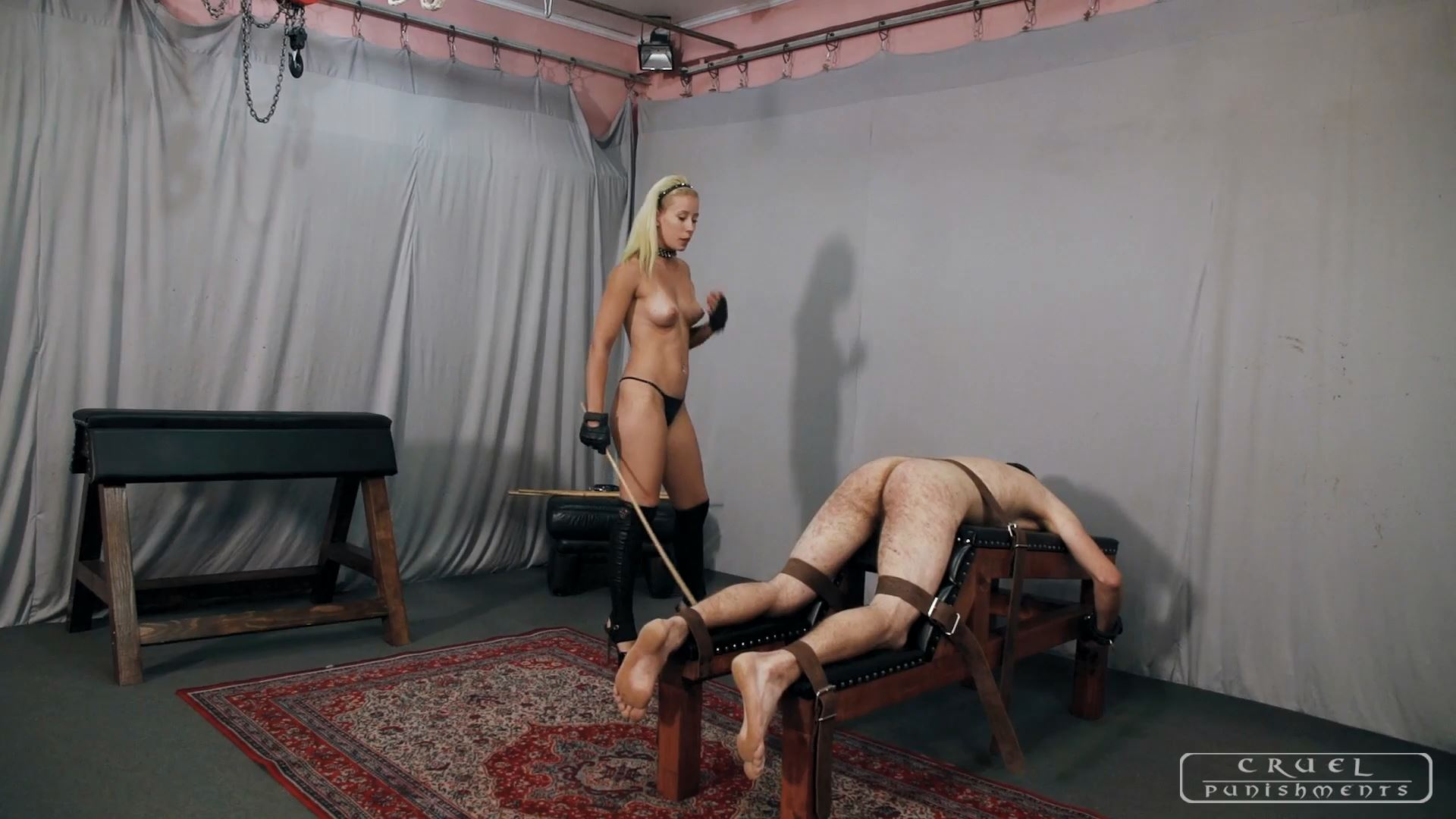 Mistress Anette In Scene: Anette's forceful strokes Part 1 - CRUEL PUNISHMENTS - SEVERE FEMDOM - FULL HD/1080p/MP4