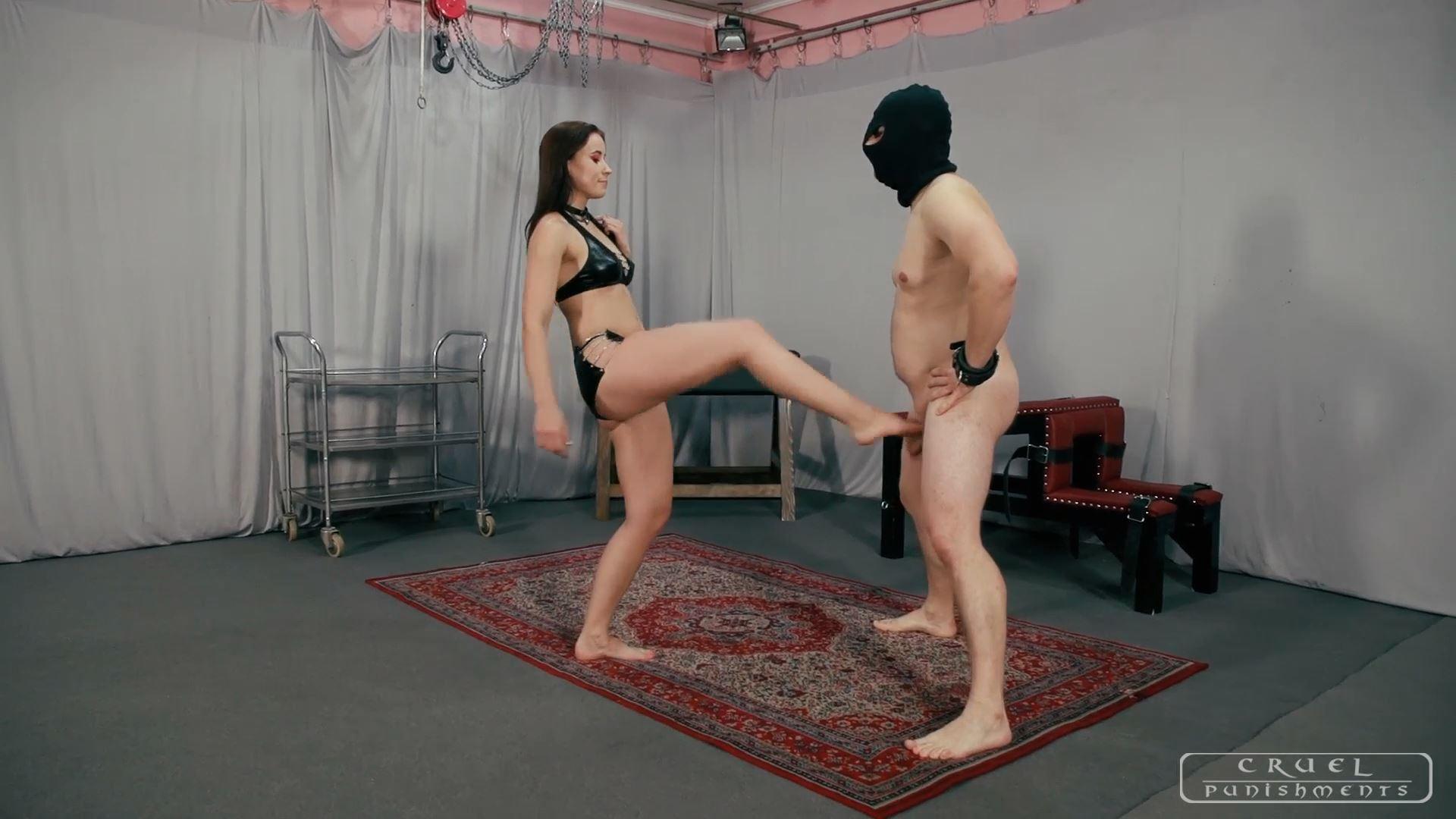 Mistress Anette In Scene: Squishy balls - CRUEL PUNISHMENTS - SEVERE FEMDOM - FULL HD/1080p/MP4