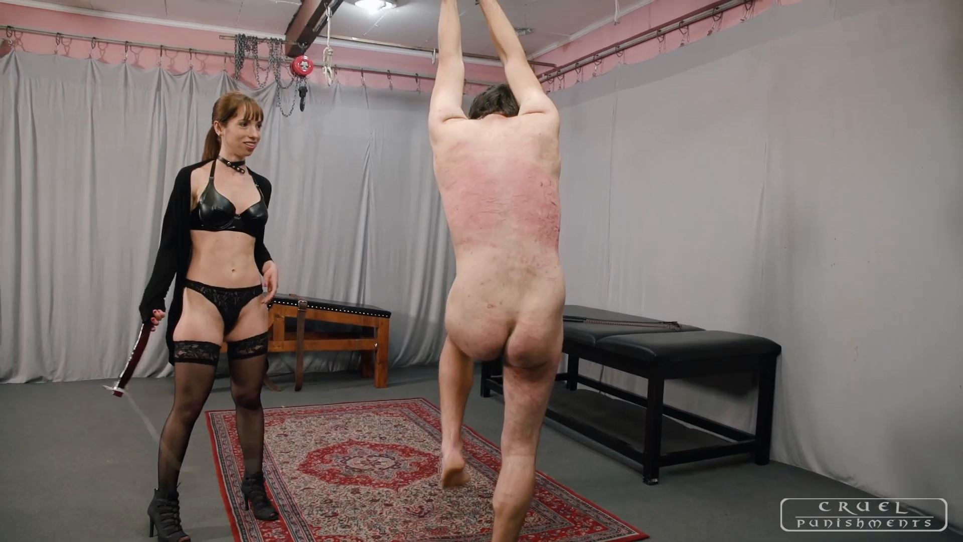 Mistress Nina In Scene: Three punishments for the slave Part 3 - CRUEL PUNISHMENTS - SEVERE FEMDOM - FULL HD/1080p/MP4