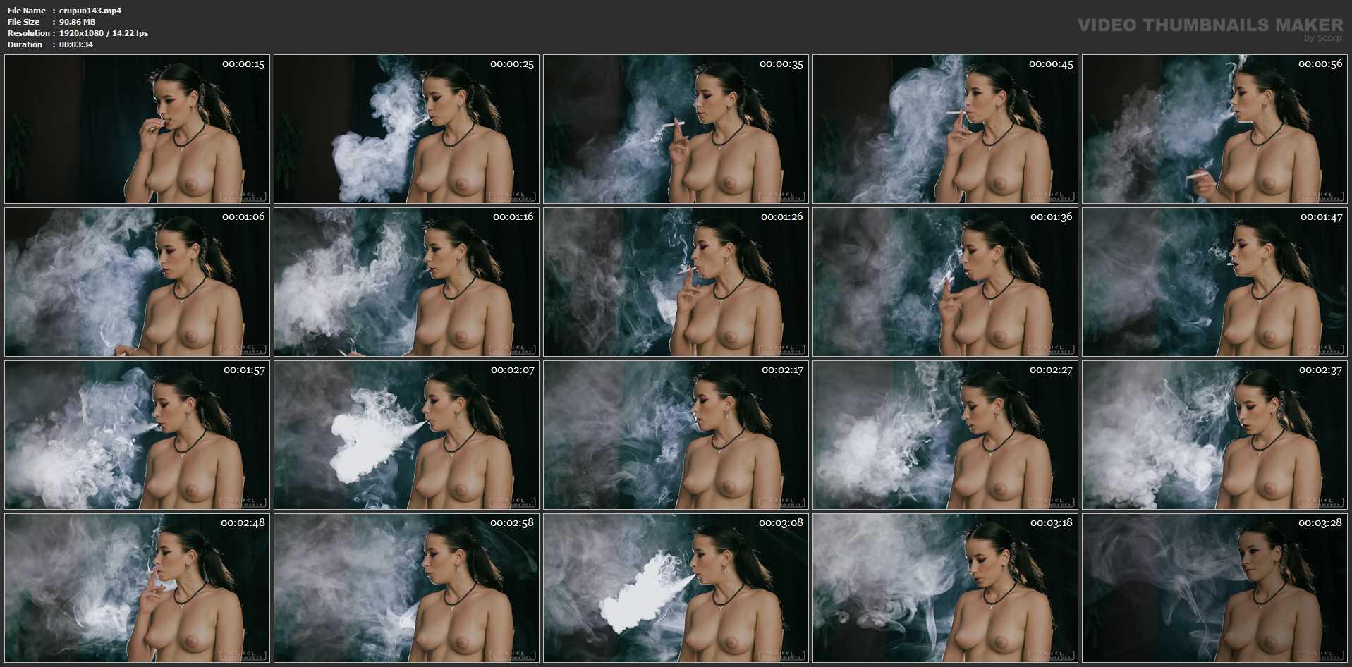 Mistress Anette In Scene: Smoking in the break - CRUEL PUNISHMENTS - SEVERE FEMDOM - FULL HD/1080p/MP4