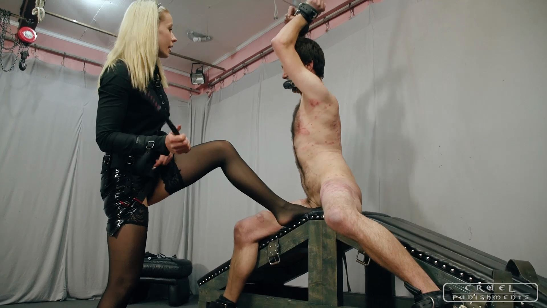 Mistress Anette In Scene: Body full of marks part - CRUEL PUNISHMENTS - SEVERE FEMDOM - FULL HD/1080p/MP4